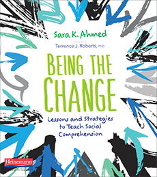Book cover of text, Being the Change.