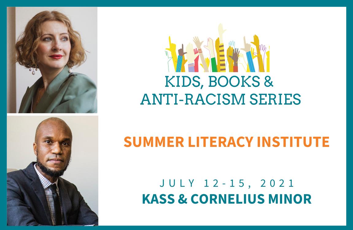 Headshots of Kass & Cornelius Minor to promo the Summer Literacy Institute 2021